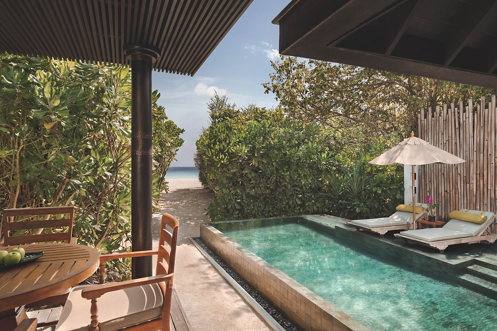 Anantara Kihavah Maldives Beach Pool Villa Deck