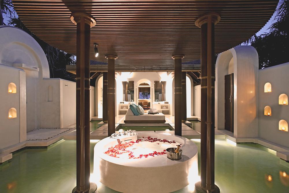 Anantara Kihavah Maldives Beach Pool Villa Bathroom