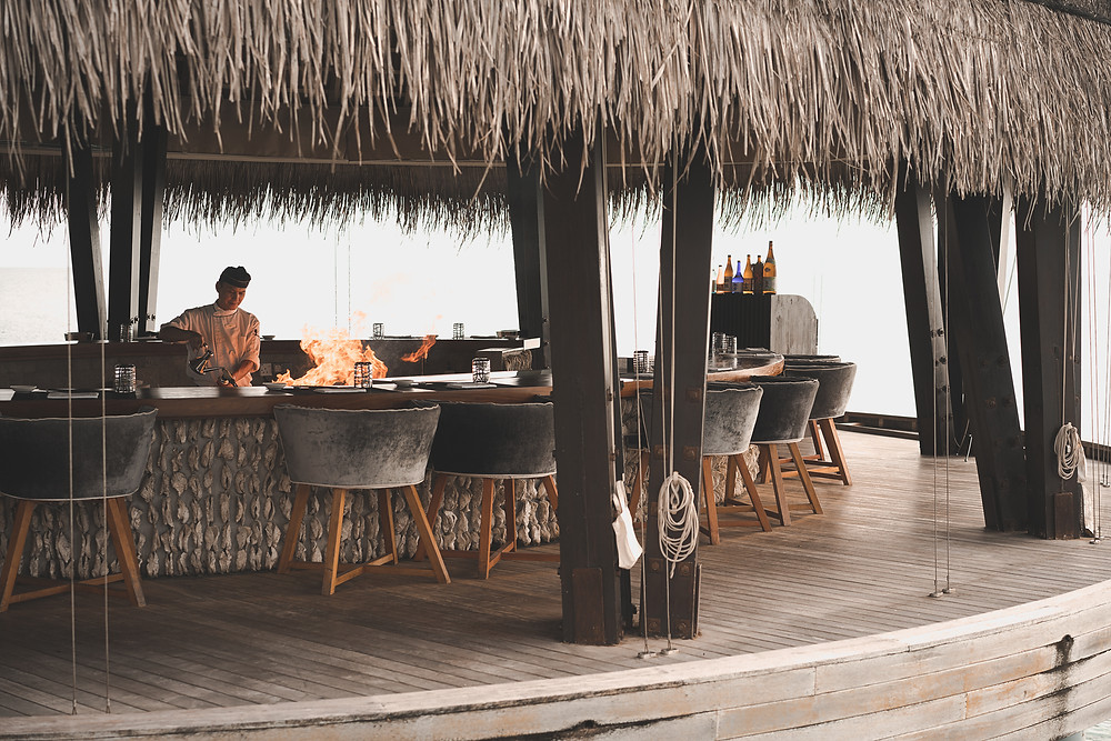 Anantara Kihavah Maldives Dining FIRE