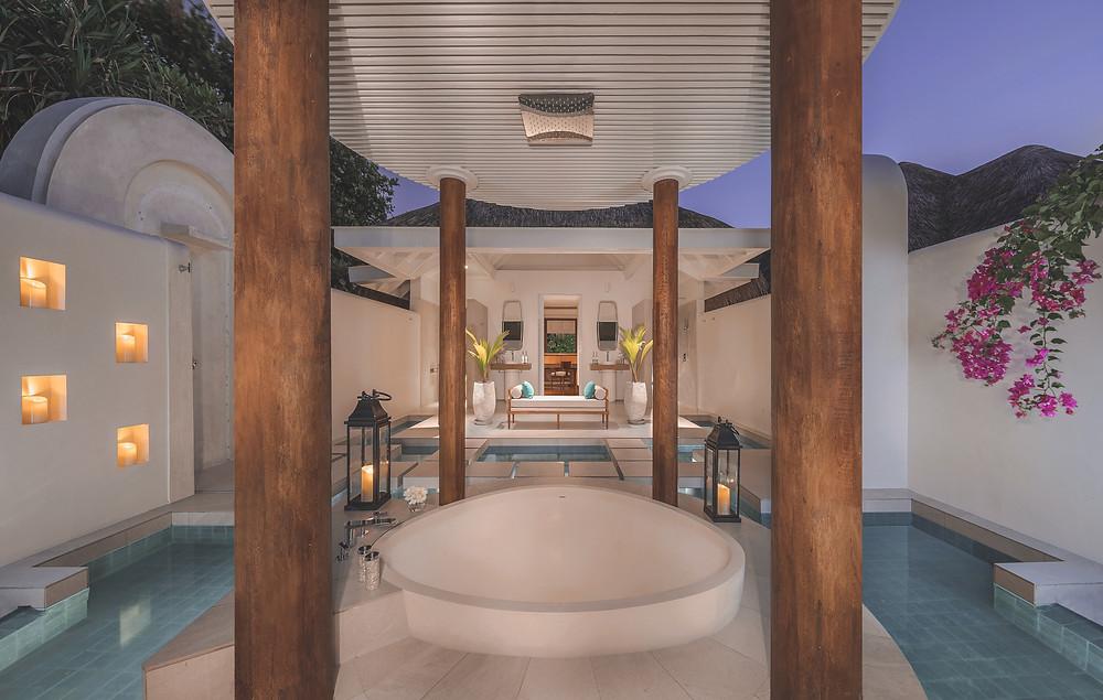 Anantara Kihavah Maldives Two Bedroom Beach Pool Residence Bathroom