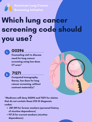 Which Lung Cancer Screenign Code Should You Use?