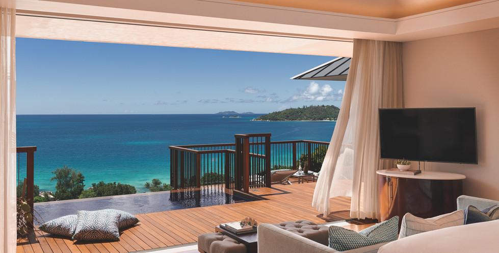Compressed Ocean View Villa Bedroom View