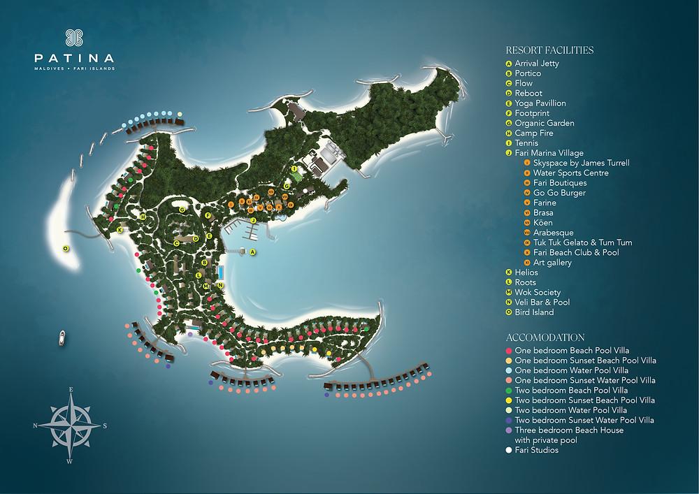 Patina Maldives Map