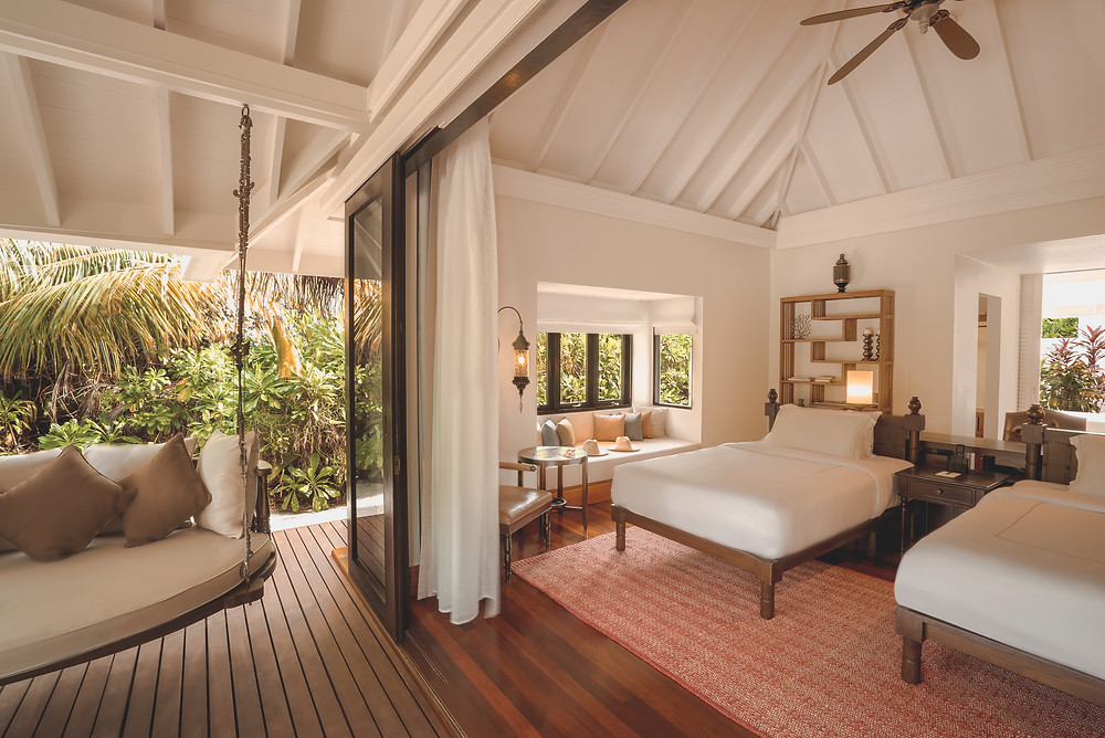 Anantara Kihavah Maldives Family Beach Pool Villa Bedroom