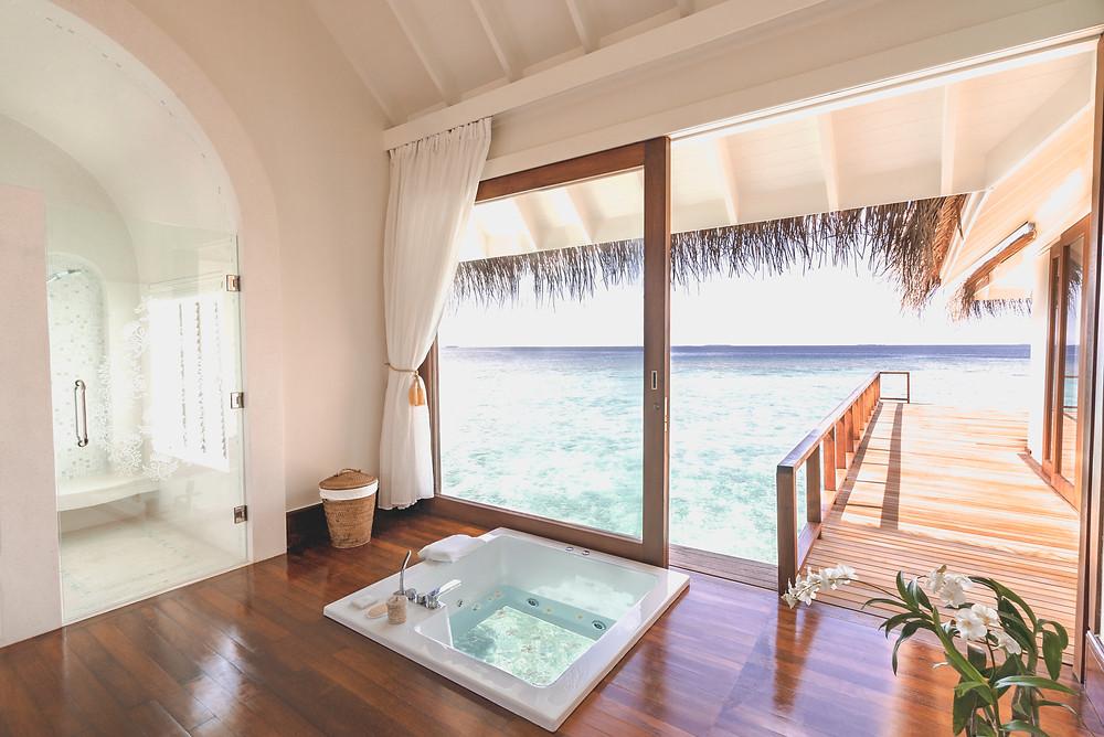 Anantara Kihavah Maldives Over Water Residence Bathroom