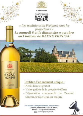 """Week-end """"Accord Sauternes et Foie Gras"""" de Rayne-Vigneau"""