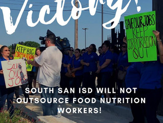 South San SAISD, the Outsourcing of School Services and Layoffs