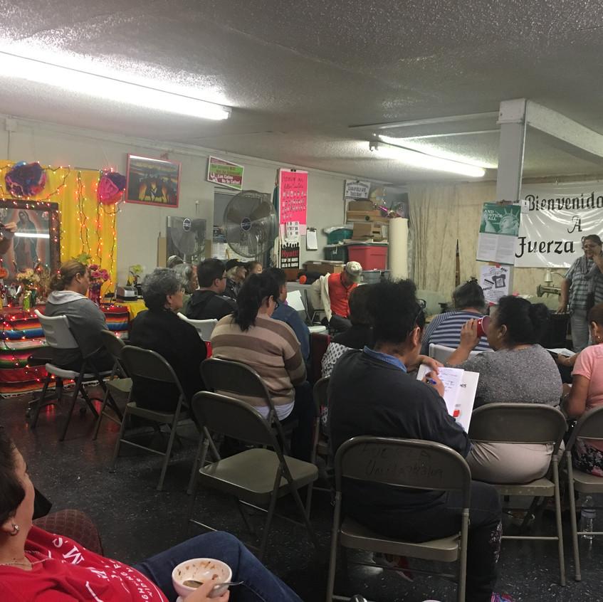 Nuesta Voz Event #3 at Fuerza Unida