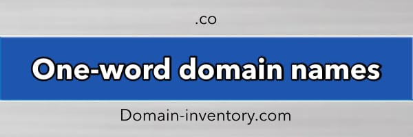One-word Domains