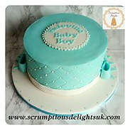 Simplistic Boys Baby Shower Cake