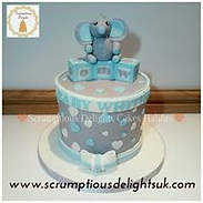 Gray & Blue boys cake
