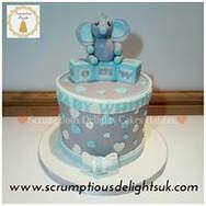 Gray & Blue boys cake