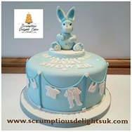 Blue Bunny Laundry Line Cake