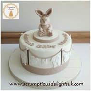 Beige Bunny & Laundry Cake