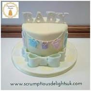 Gender Neutral Laundry Line cake