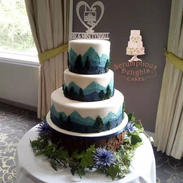 Hand Painted Mountain Cake