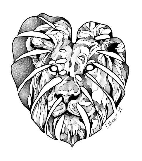 Fine Art Print - Monstera Leaf Lion