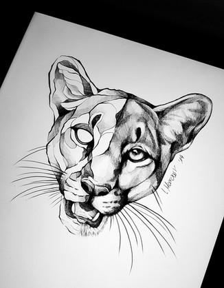 Puma - Tattoovorlage