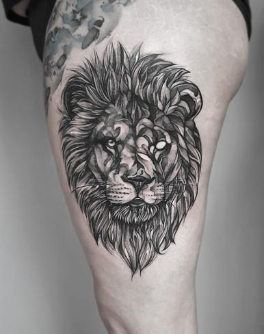 Blackwork Lion / Wannado