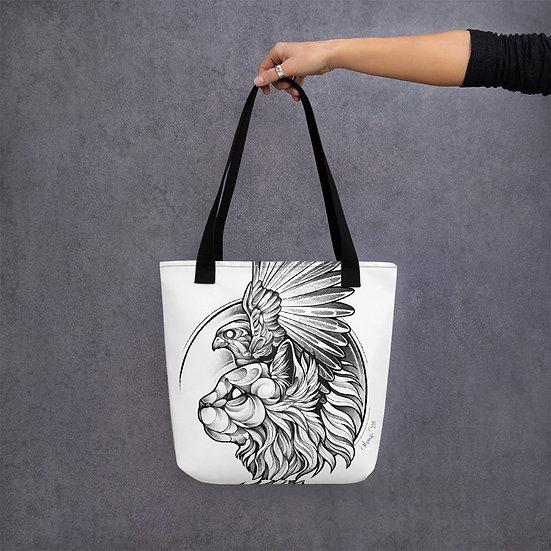 Hawk Cat - Tote Bag / Stofftasche, Tragetasche