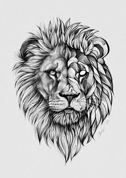 Blackwork Lion