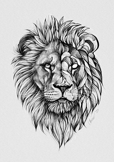 Tattoo Zeichnung Löwe - Isabella Marowski