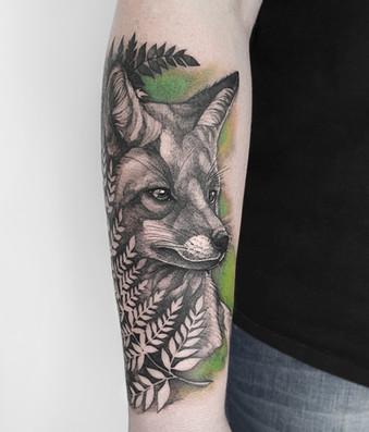 Fox & Farn Tattoo
