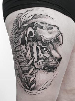 Blackwork Tiger