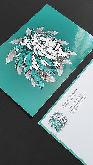 "Postkarte ""Löwe - Logo"""