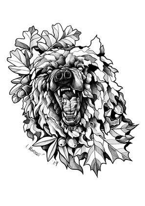 Bär - Tattoovorlage