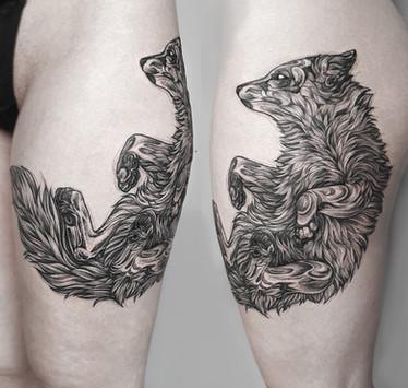 Blackwork Fox - Wannado