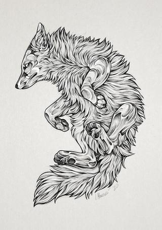 Blackwork Fox