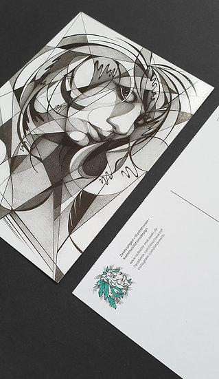 "Postkarte ""Selbstporträt"""