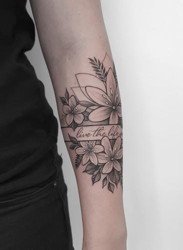 Flower Blackwork