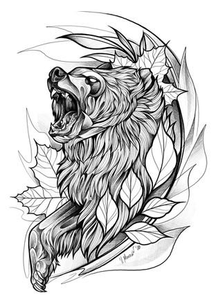 Blackwork Bear