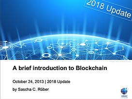 Introduction to Blockchain 2018 update