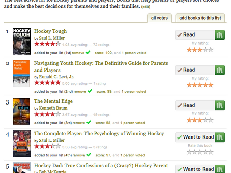 Hockey Advice Books on GoodReads