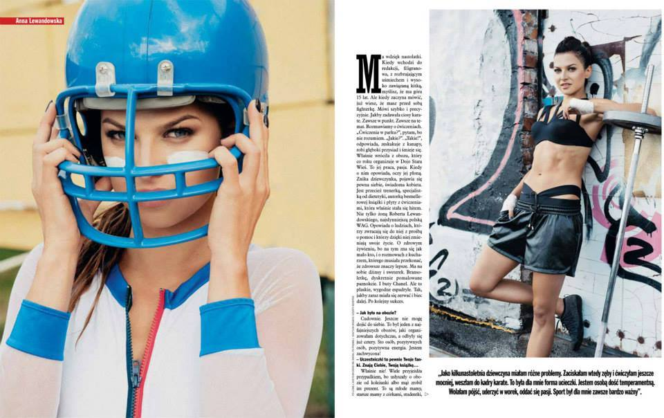 Anna Lewandowska in Viva magazine