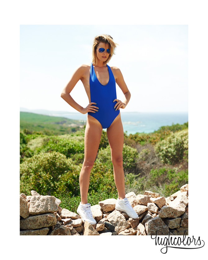 """Our """"Grandbleu onepiece"""" in Highcolors brand eyewear campaign with babe Patrycja Laufer!"""