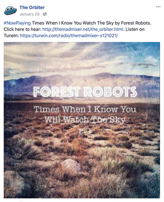 """Times When I Know You Will Watch The Sky Pt. I"" Single Playlisted by Radio Station The Or"