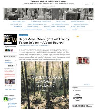 """Supermoon Moonlight Part One"" Album Feature On Warlock Asylum International News"