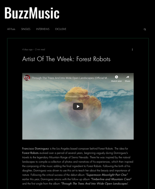 Forest Robots Featured Artist Of The Week By Buzz Music
