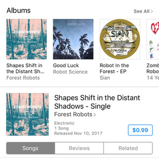 """""""Shapes Shift In The Distant Shadows"""" Now On iTunes"""