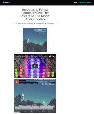 """""""Follow The Towers To The Moon"""" Single Featured On Monkears Magazine"""