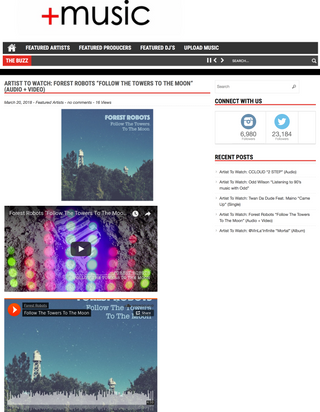 """Follow The Towers To The Moon"" Single Featured On +Music Magazine On Artists To Watch Sec"