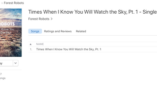 """Times When I Know You Will Watch The Sky Pt. I"" Now Available On iTunes And All Other Dig"