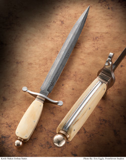 Damascus Dagger With Ivory handle
