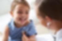 Adorable Girl with Pediatrician