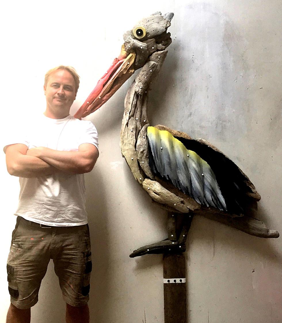 Wilcox Driftwood Pelican
