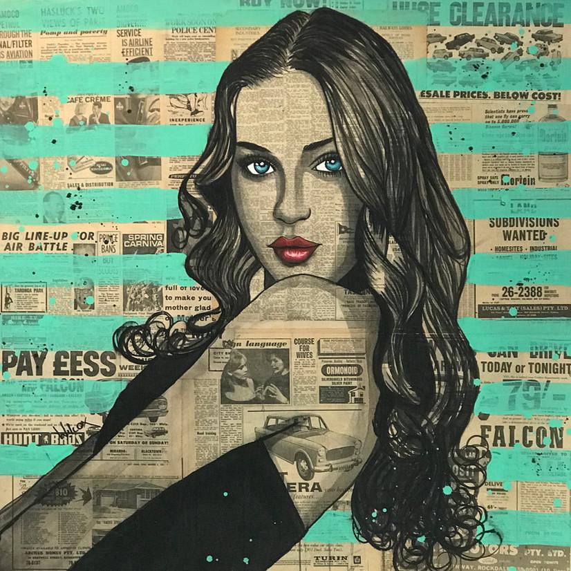 Charles Wilcox Newspaper Girl